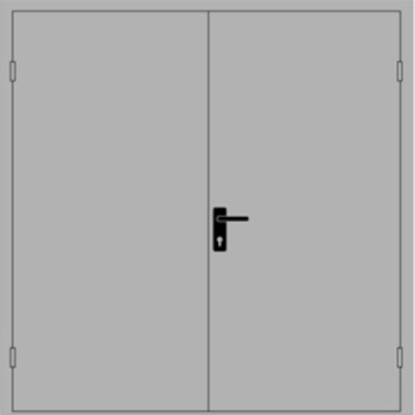 двери противопожарные металлические двухстворчатые цена